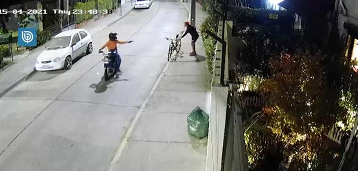 asalto a ciclista en Providencia