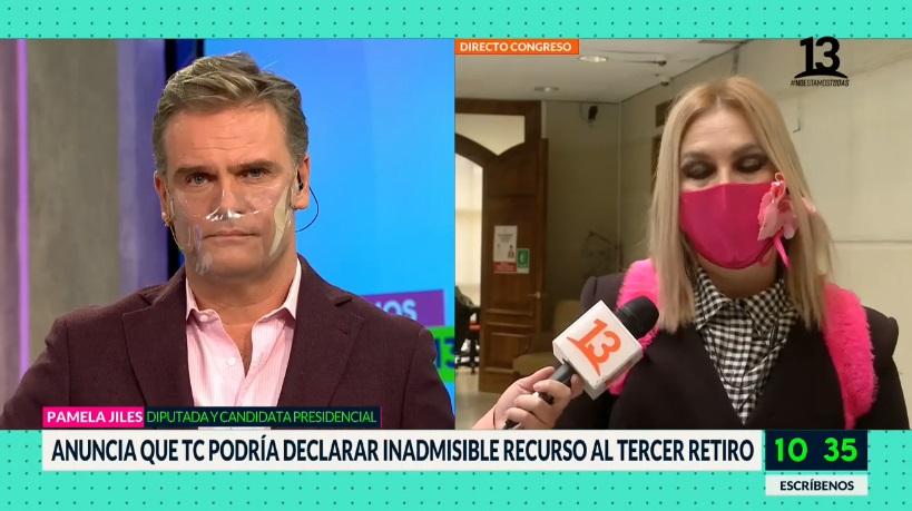 Pamela Jiles y Amaro Bienvenidos