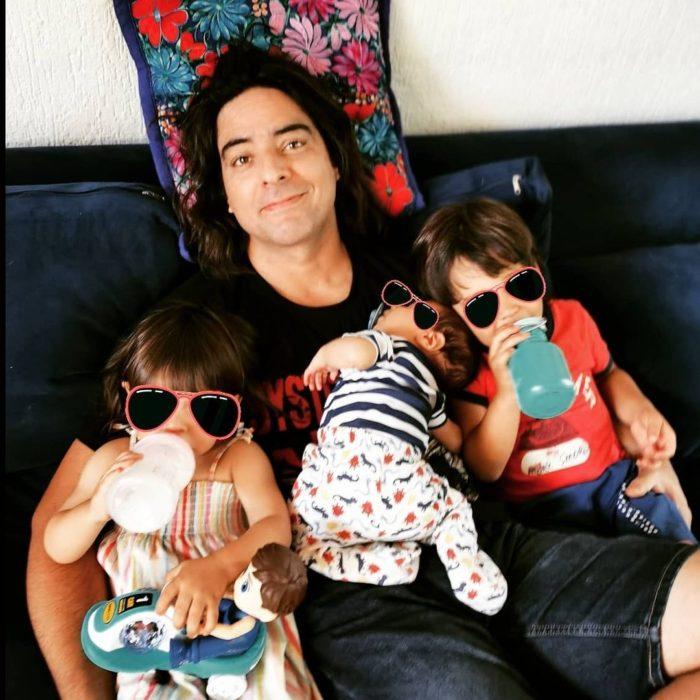 Cristian Riquelme e hijos