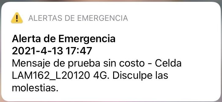 alerta de emergencia
