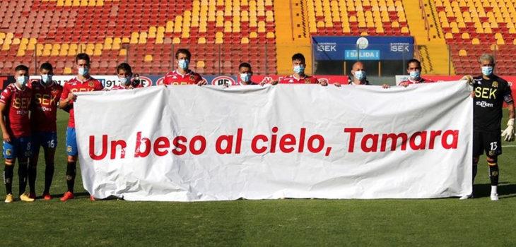 homenaje de Unión Española a Tamara Moya