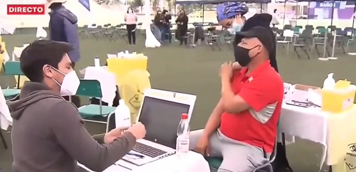hombre con temor a las agujas protagonizó cómico momento en la comuna de La Pintana