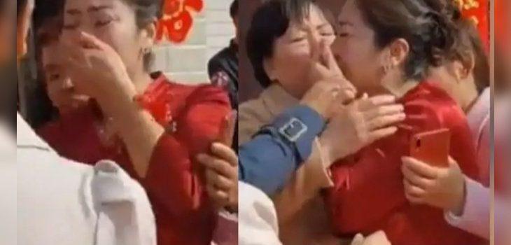 matrimonio novia hija adoptada china