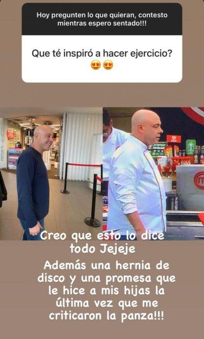 Jorge Rausch mostró antes y después tras su baja de peso