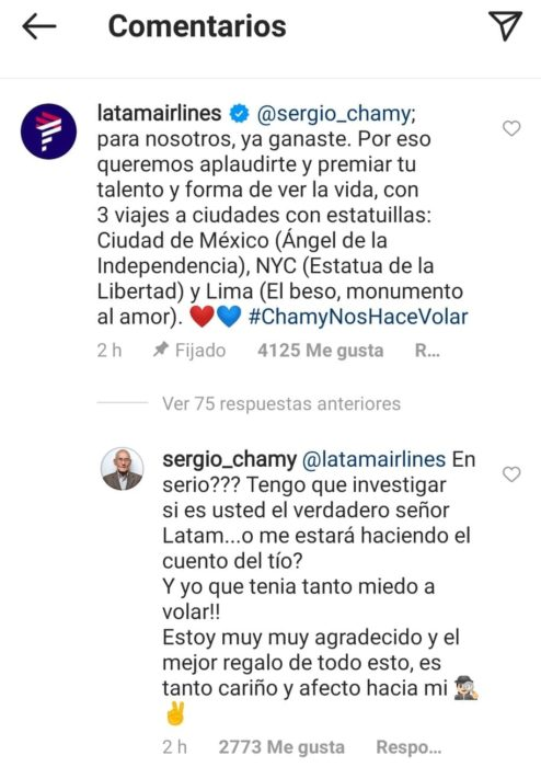 Oferta Latam Sergio Chamy