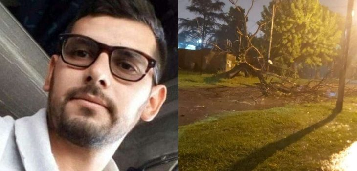 hombre muere aplastado en Argentina