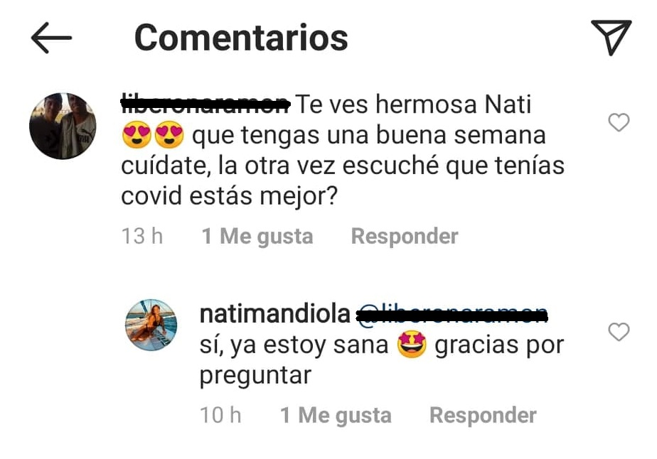 Natalia Mandiola Covid
