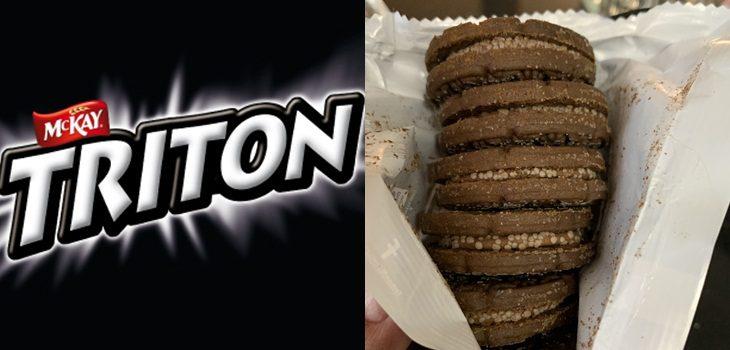 gusanos en galletas tritón