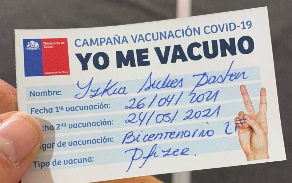 Izkia Siches vacuna