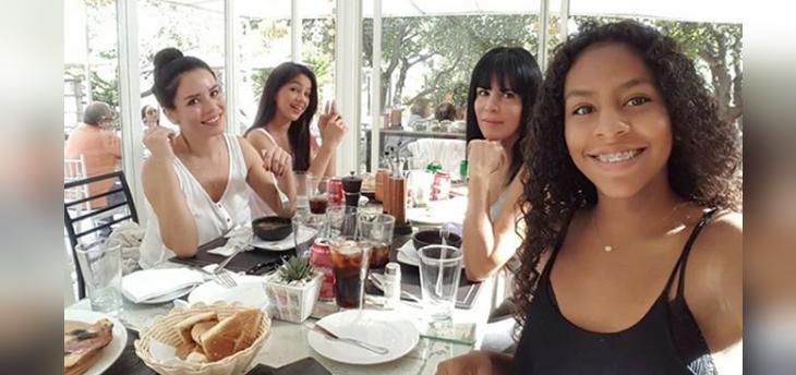 anita alvarado celebró cumpleaños de sus hijas angie y xephora