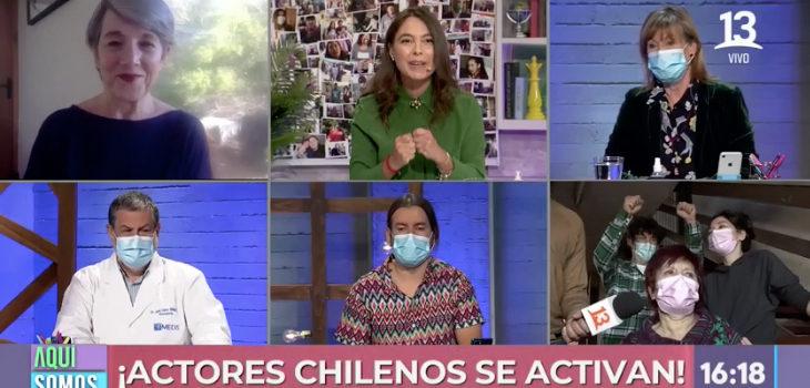 actores chilenos ayudan a mujer que confeccionaba vestuarios en obras