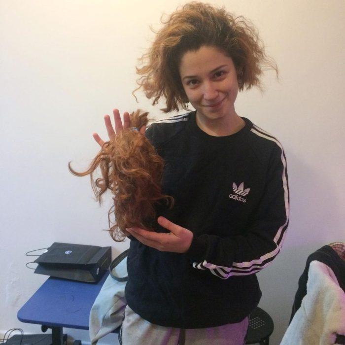 Fernanda Ramírez corte de pelo