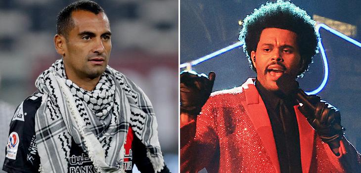 Jugadores de Palestino generan reacción en The Weeknd