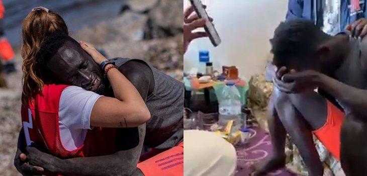 Joven rescatista de la Cruz Roja se reencontró con migrante que consoló a orilla del mar: