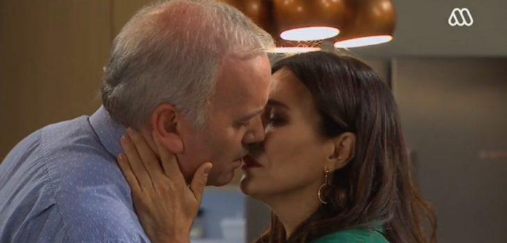 Rocío y Diego se besaron