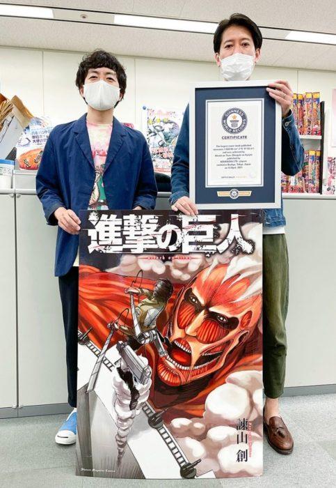 Récord Guinness Shingeki no kyojin