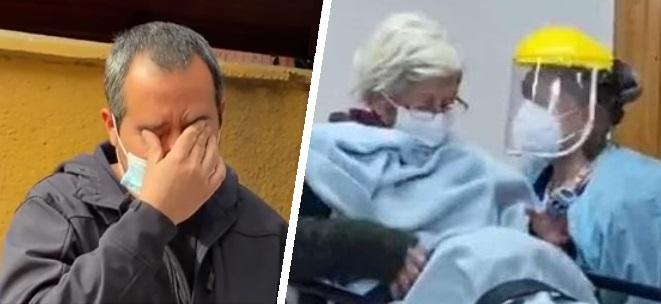 mujer mayor durmió en la calle