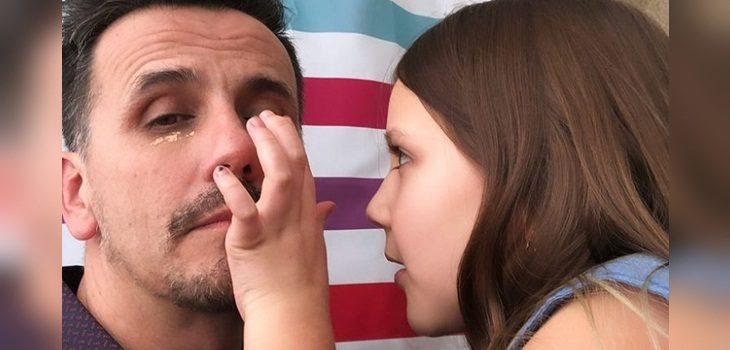 Hija de Sergio Lagos se lució maquillando al animador
