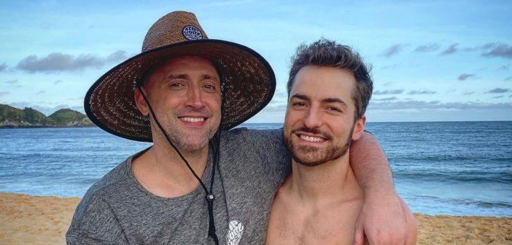 Paulo Gustavo (izquierda) junto a su pareja Thales Bretas