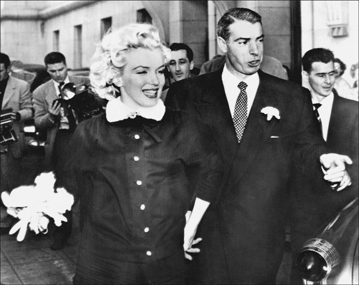 Marilyn Monroe y su segundo esposo Joe DiMaggio | AFP