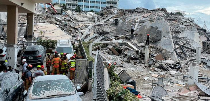 búsqueda sobrevivientes derrumbe miami
