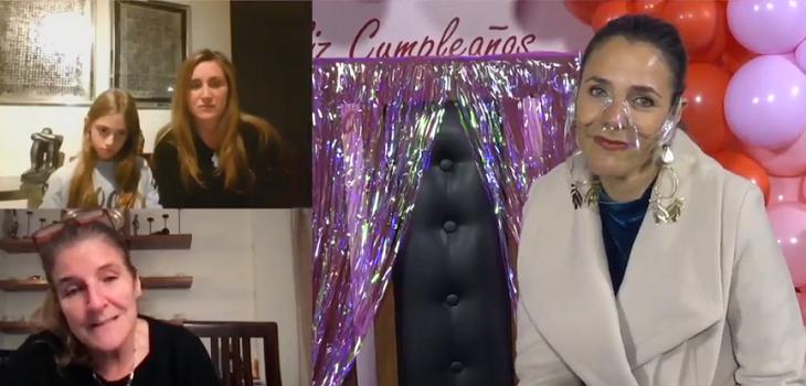Julia Vial fue sorprendida en su cumpleaños por su familia en Hola Chile