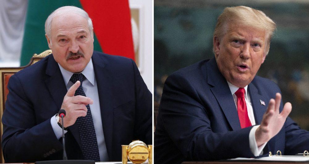 Alexander Lukashenko y Donald Trump