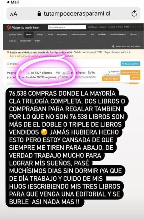 Coté López se molestó por cuestionamientos de ganancia de sus libros