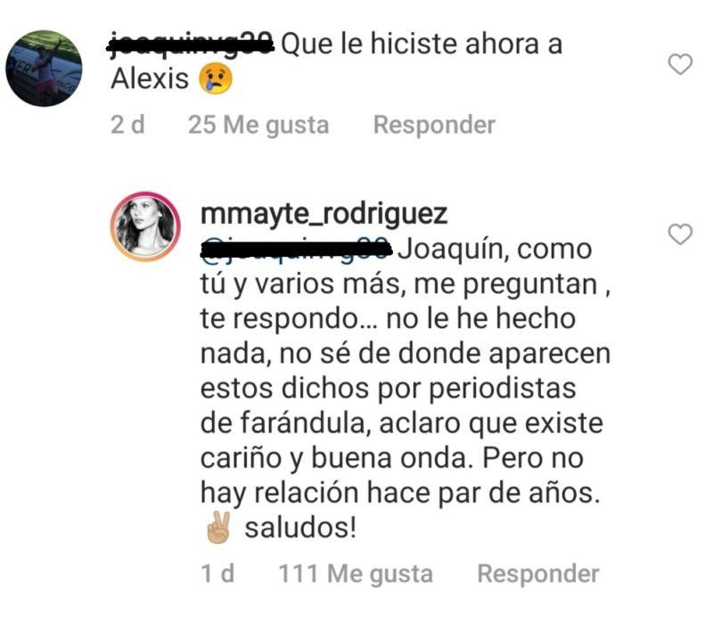 comentario Mayte Rodríguez