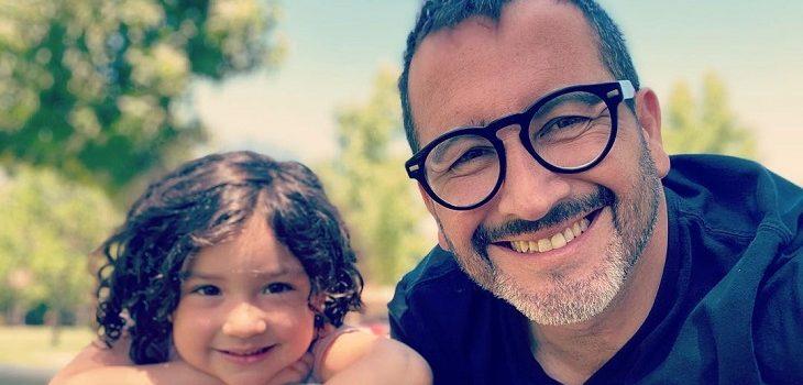 Eduardo Fuentes y su hija Alma