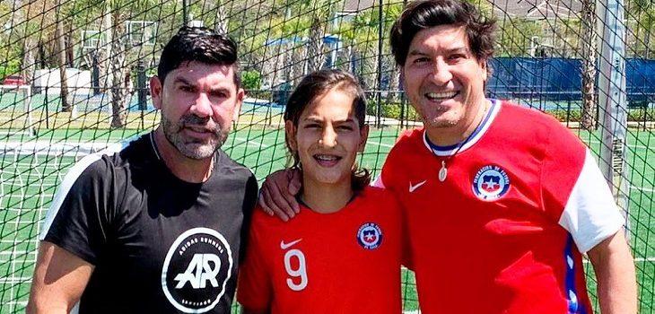 Hijo de Iván Zamorano se luce con su talento para el fútbol