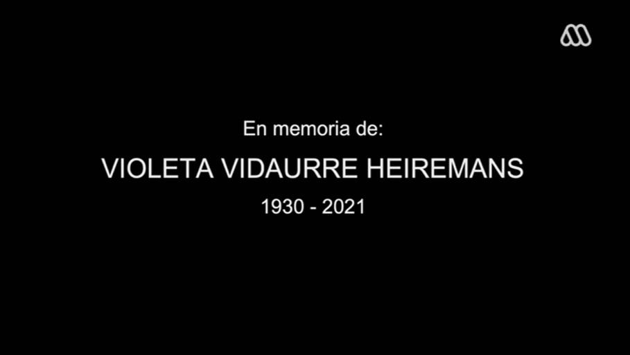 Homenaje Violeta Vidaurre