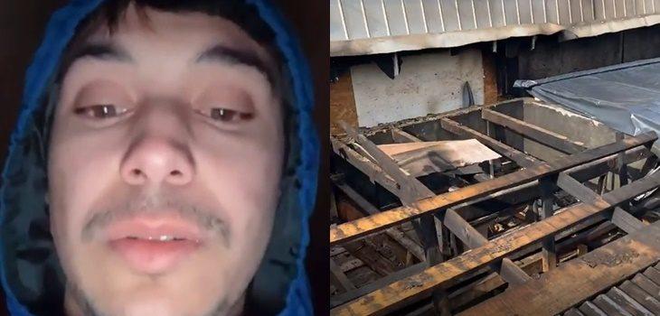 Exbailarín de Rojo Raúl Alarcón tras incendio en su casa