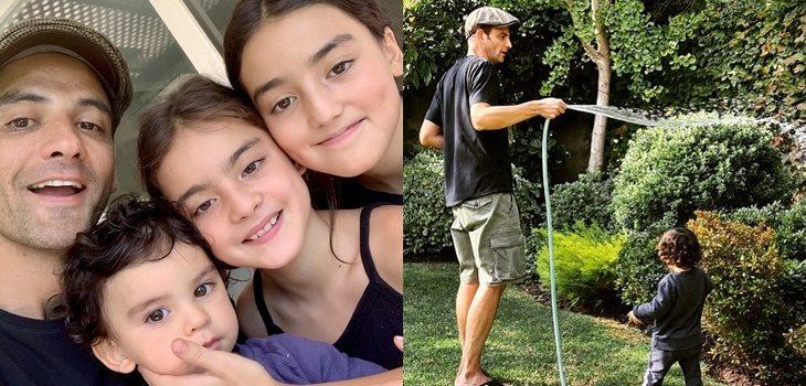 Gonzalo Ramírez contó especial significado del jardín de su casa junto a tierna imagen de sus hijos
