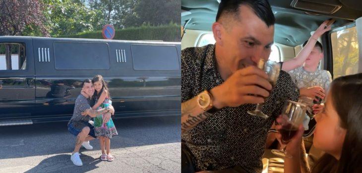 Gary Medel sorprendió a su hija con cita en limusina
