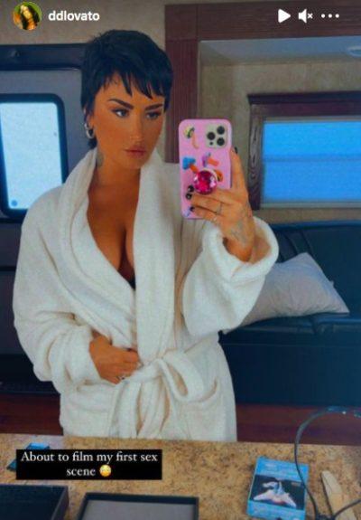 Demi Lovato grabó escena de sexo