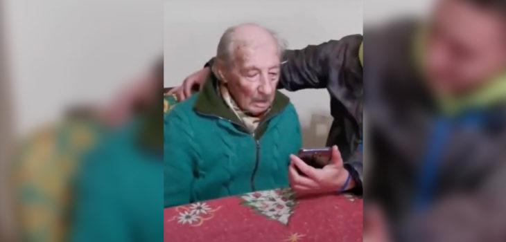 Messi sorprende a abuelo
