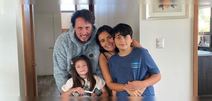 Rodrigo Wainraihgt y Dominique Gallego celebran talento de su hija Vicenta para el esquí
