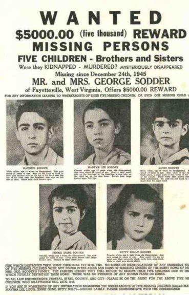 Captura | Afiche con los rostros de los cinco niños y la recompensa que se ofreció por encontrarlos