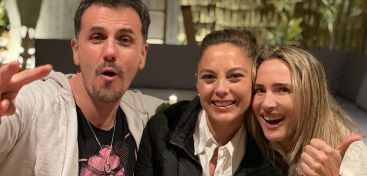 Con karaoke incluido: la prendida fiesta de Angélica Castro, Sergio Lagos y Ángeles Araya