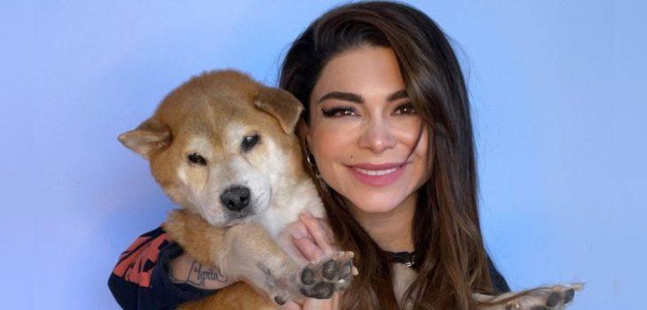 Antonella Ríos triste tras el deceso de su perrito Lupo