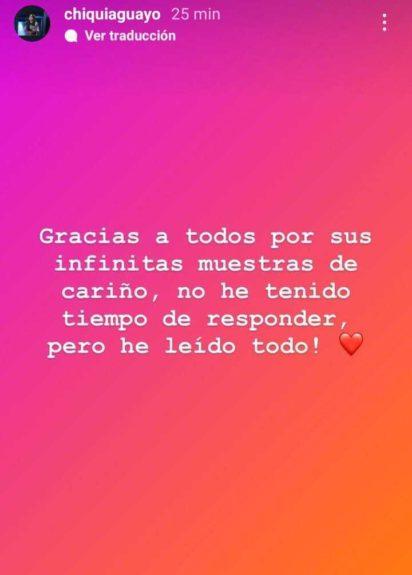 Chiqui Aguayo dio las gracias por muestras de cariño tras muerte de su padre