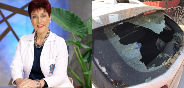 Doctora Carolina Herrera por choque en Canal 13