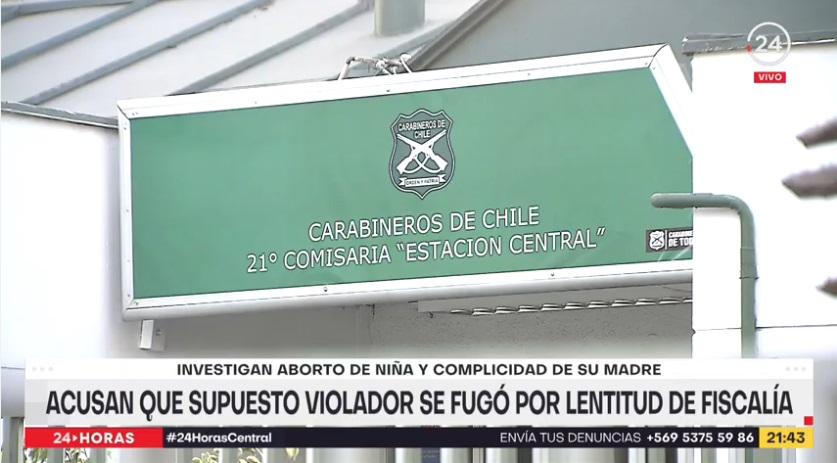 Comisaría Estación Central violación