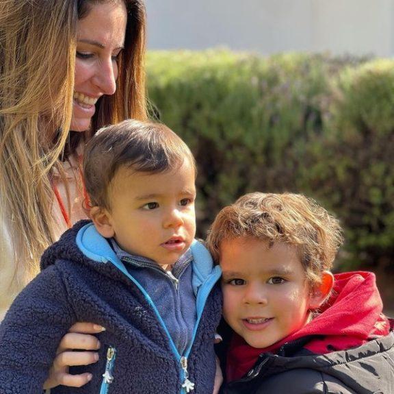 Francisca Sfeir y sus hijos