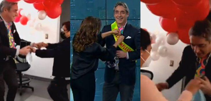 José Luis Repenning fue sorprendido en su cumpleaños por equipo de Meganoticias