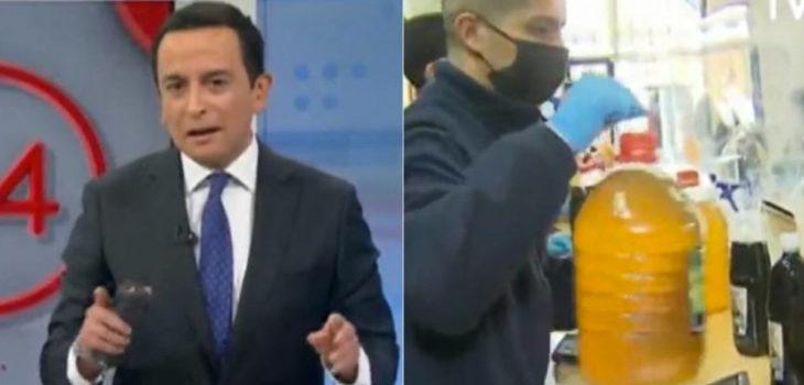 Paya periodista TVN en despacho en vivo
