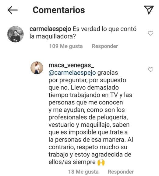 respuesta Macarena Venegas