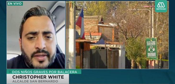 Christopher White y niños heridos a bala en San Bernardo