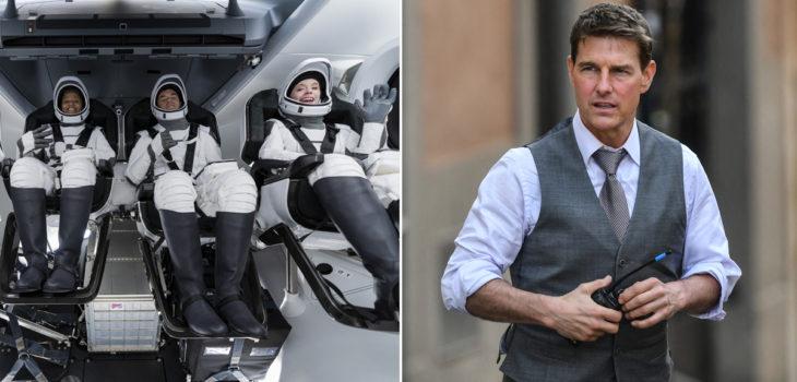 Turistas de SpaceX hablan con Tom Cruise